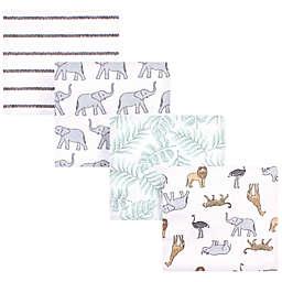 Hudson Baby® 4-Pack Modern Neut Safari Cotton Flannel Receiving Blankets in Grey