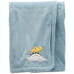 carter's® Toddler Dinosaur Fuzzy Plush Velboa Blanket in Light Blue