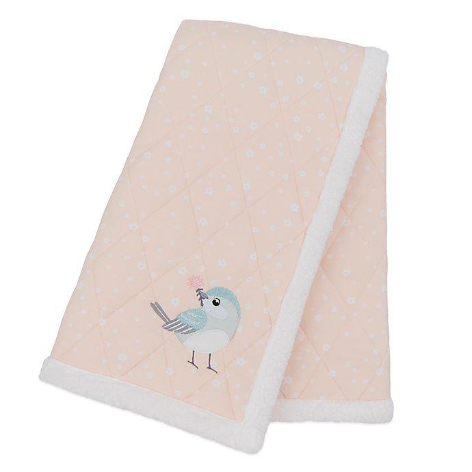 Alternate image 1 for Living Textiles Ava Birds Cotton Stroller Blanket in Pink/Blue