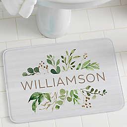 Spring Greenery Personalization Foam Bath Mat