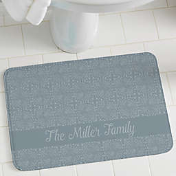 Stamped Pattern Personalization Foam Bath Mat