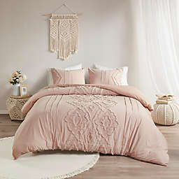 Madison Park® Margot Cotton 3-Piece Full/Queen Duvet Cover Set in Blush