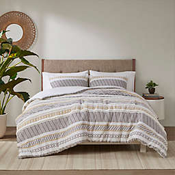 Madison Park® Newton Cotton Printed 3-Piece King/California King Duvet Cover Set in Yellow/Charcoal