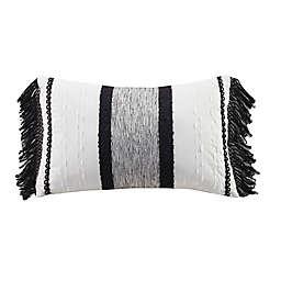 INK+IVY Kai Cotton Oblong Decorative Pillow in Black/White