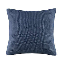 INK+IVY II Bree Knit European Pillow Cover in Blue