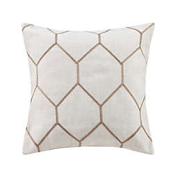 Madison Park™ Brooklyn Square Throw Pillows in Taupe (Set of 2)