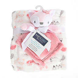 Baby's First by Nemcor 2-Piece Blanket and Fox Buddy Set in Pink