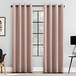 Clean Window® Anti-Dust Room Darkening Grommet 96-Inch Window Curtain Panel in Blush