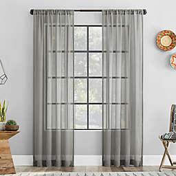 Clean Window® Vintage Open Weave Anti-Dust Sheer Window Curtain Panel