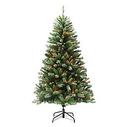 H for Happy™ 6-Foot Spruce Pre-Lit Artificial Value Christmas Tree in Green