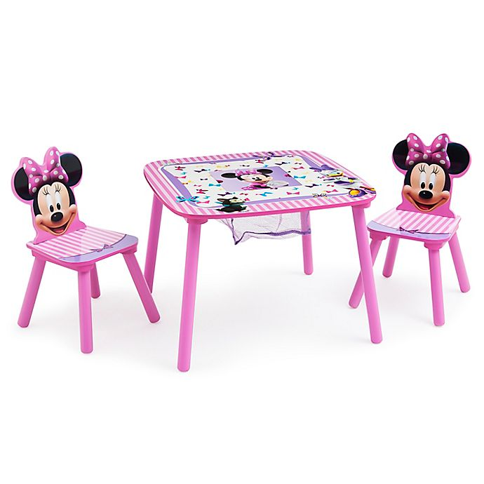 Alternate image 1 for Delta Children® Disney® Minnie Mouse Table and Chair Set with Storage in Pink