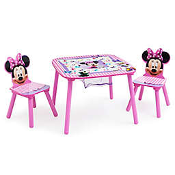 Delta Children® Disney® Minnie Mouse Table and Chair Set with Storage in Pink