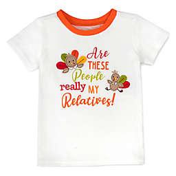 Baby Essentials® Thanksgiving Relatives T-Shirt in White/Orange