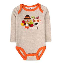 Baby Essentials® My 1st Turkey Day Long Sleeve Bodysuit in Oatmeal