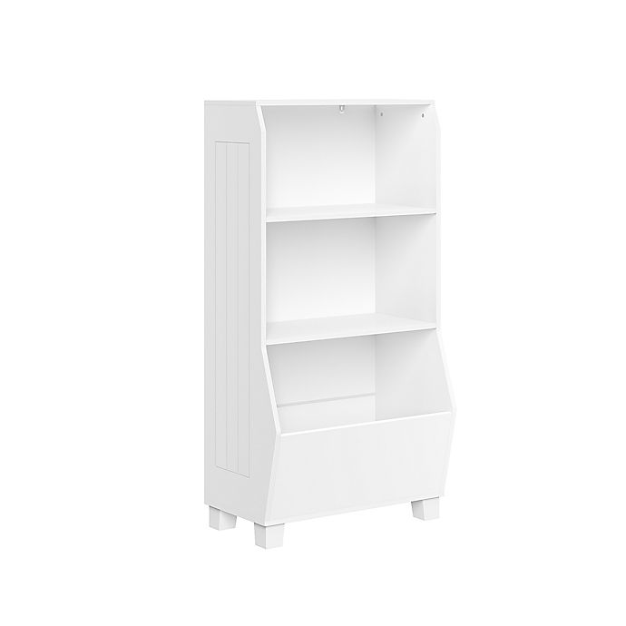Alternate image 1 for RiverRidge Home® 23-Inch Kids Bookcase with Toy Organizer in White