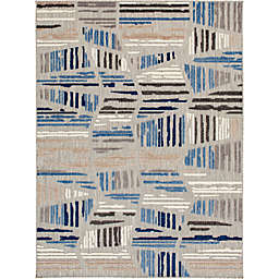 Truros Abstract Rug in Grey/Blue