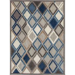 Truros 6'7 x 9'2 Indoor/Outdoor Area Rug Grey/Blue