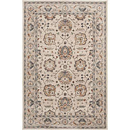 Maisel 7'10 x 9'10 Area Rug in Beige/Red