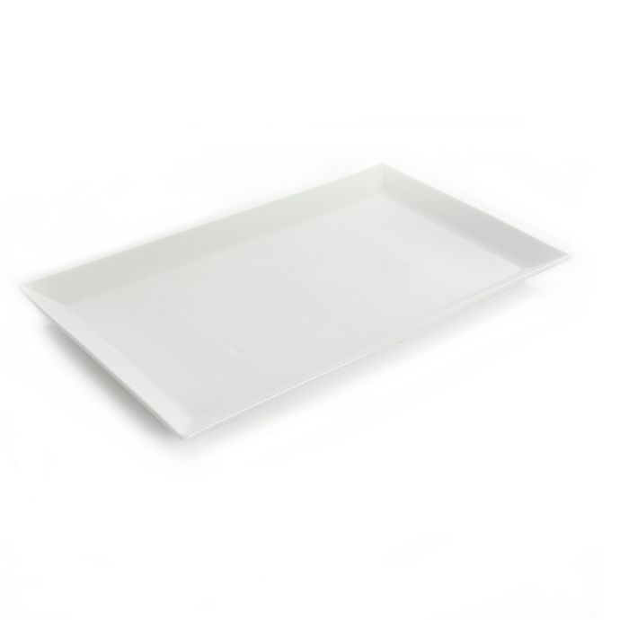 Alternate image 1 for Our Table™ Simply White Rim 18-Inch Rectangular Serving Platter