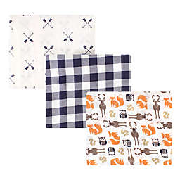 Hudson Baby® 3-Pack Cotton Muslin Swaddle Blankets in Forest