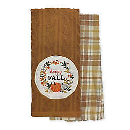 Happy Fall Wreath Kitchen Towels (Set of 2)