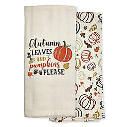 Autumn Leaves Kitchen Towels (Set of 2)