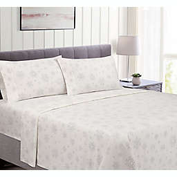 Bee & Willow™ Cotton Flannel King Sheet Set in Snowflake