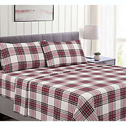 Bee & Willow™ Cotton Flannel Twin Sheet Set in Christmas Plaid