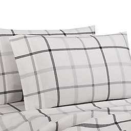 Bee & Willow™ Cotton Flannel King Pillowcases in Grey Tattersall (Set of 2)