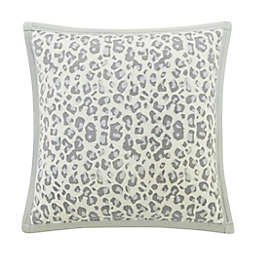 UGG® Coco Luxe Square Throw Pillows in Grey Leopard (Set of 2)