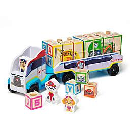 Melissa & Doug® Paw Patrol 33-Piece ABC/123 Wooden Block Truck Set