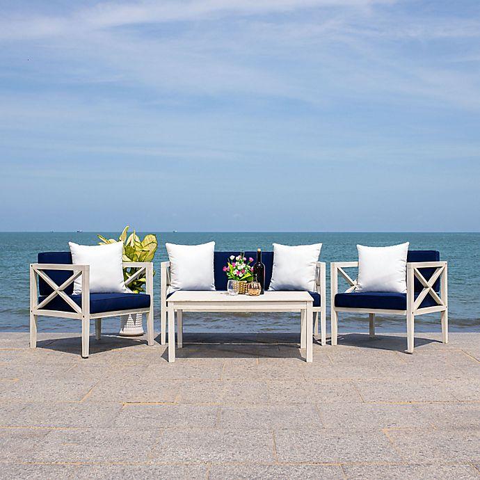 Alternate image 1 for Safavieh Nunzio 4-Piece Outdoor Seating Conversation Set