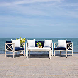 Safavieh Nunzio 4-Piece Outdoor Seating Conversation Set