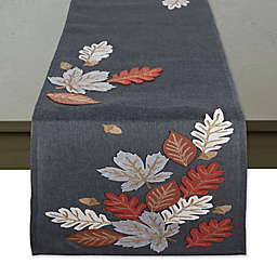 Autumn Leaves Embroidered Table Runner