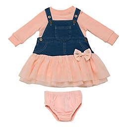 Baby Starters® 3-Piece Knit Demin Jumper Dress in Pink