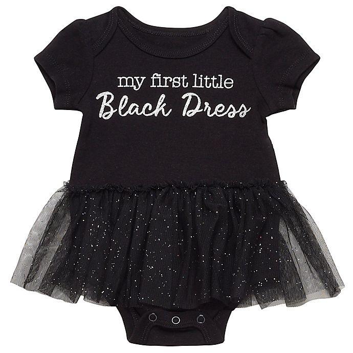 Alternate image 1 for Baby Starters® Black Dress Bodysuit