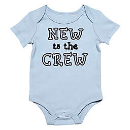 """Baby Starters® BWA® """"New to the Crew"""" Bodysuit in Blue"""