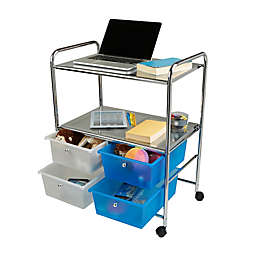 Mind Reader 4-Drawer All-Purpose Utility Cart in Silver