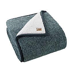 UGG® Classic Melange Sherpa Throw Blanket in Dark Green