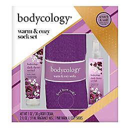 Bodycology® Dark Cherry Orchid 3-Piece Warm & Cozy Sock Set