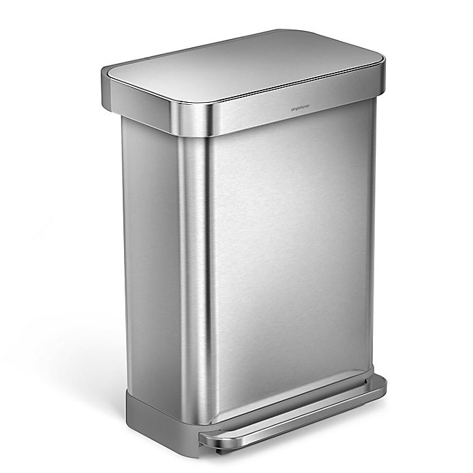 Alternate image 1 for simplehuman® 55-Liter Rectangular Step Trash Can with Liner Pocket