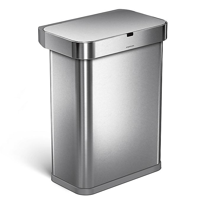 Alternate image 1 for simplehuman® 58-Liter Rectangle Sensor Can with Motion & Voice Activation
