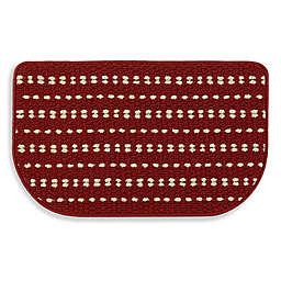 Simply Essential™ Stripe Slice 18-Inch x 30-Inch Kitchen Mat in Red
