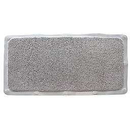 "Nestwell™ 17"" x 30"" Woven Loofah Tub Mat in Grey"