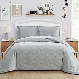 Poppy & Fritz® Connery Stripe Twin Comforter Set in Grey