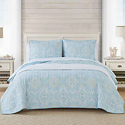 Tommy Bahama® Turtle Cove 2-Piece Reversible Twin Quilt Set in Bluegrass