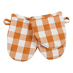 Harvest 2-Pack Cotton Mini Mitts in Buffalo Check
