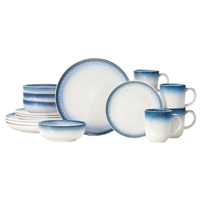 Alternate image 1 for Baum Marina 16-Piece Dinnerware Set in Blue