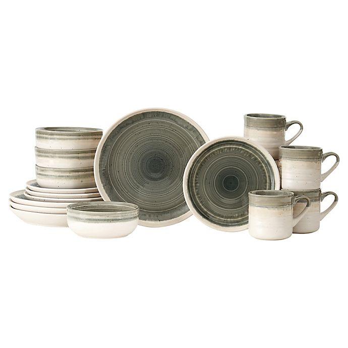 Alternate image 1 for Baum Hearth 16-Piece Dinnerware Set in Grey