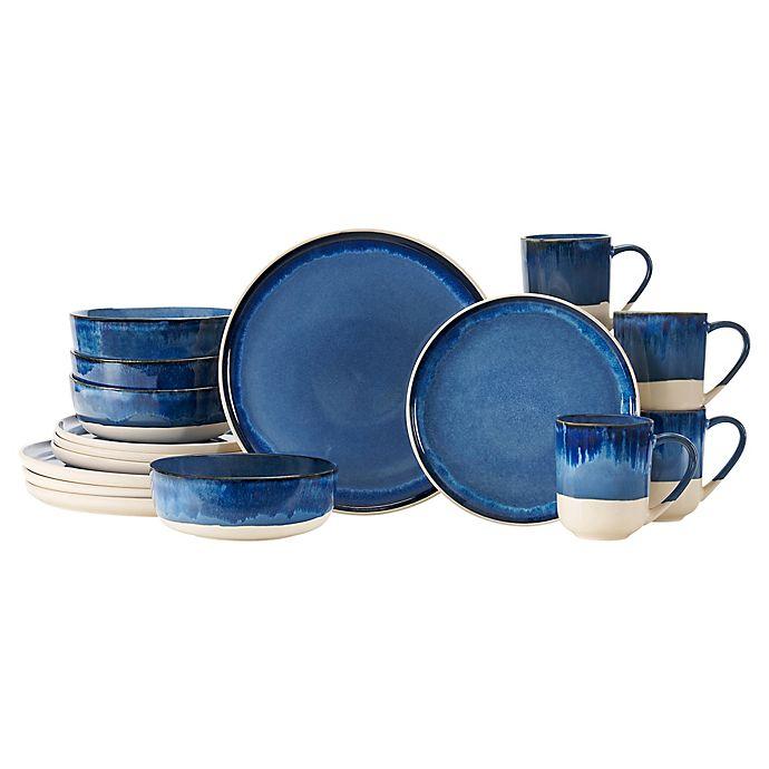 Alternate image 1 for Baum Apex Blue 16-Piece Dinnerware Set